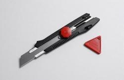 Ecobra Cutter breit 18 mm m. Metallführung  mit Schraubarretierung + 2 Klingen